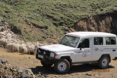 Sani Pass Tours Vehicle on Pass
